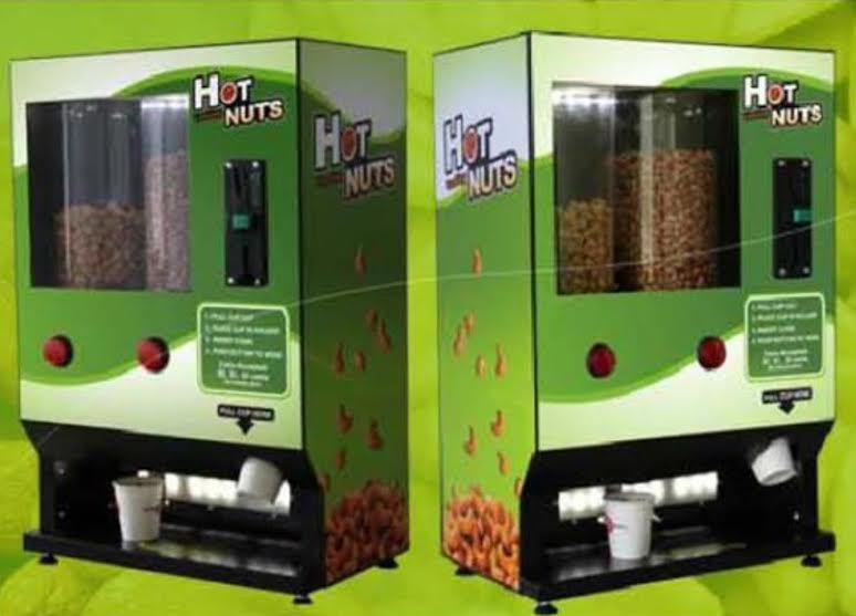 Hot nut vending machine