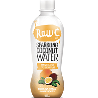 Raw C Sparkling Mango Passionfruit Coconut Water