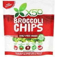 X50 BROCCOLI CHIPS GUILT FREE SNACK