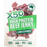 X50 High Protein Beef Jerky Lightly Herbed