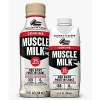 muscle milk cookies and cream shake