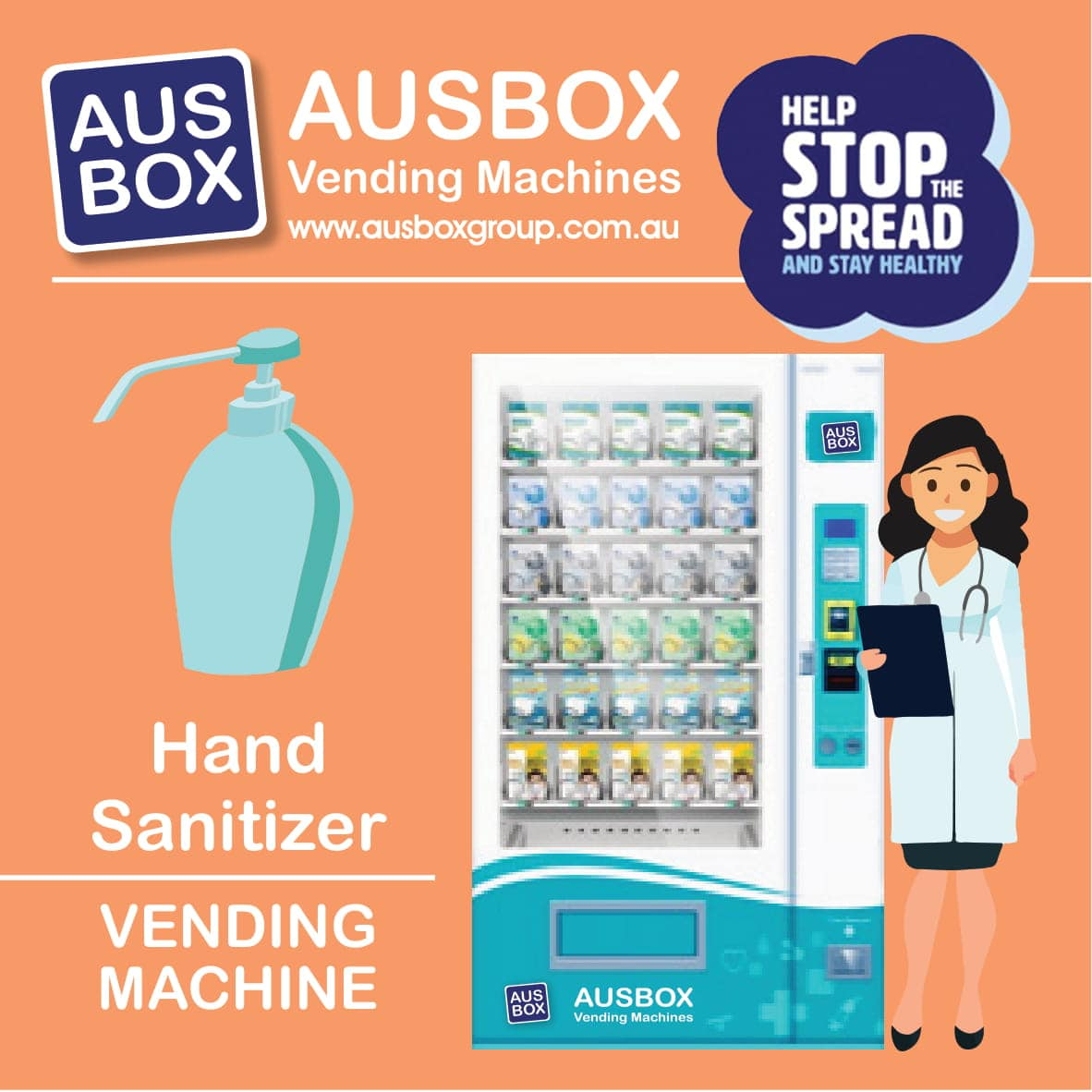Hand Sanitizer Vending Machine